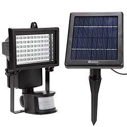 LED-Strahler-Test: Homdox-Solarleuchte-60-LED